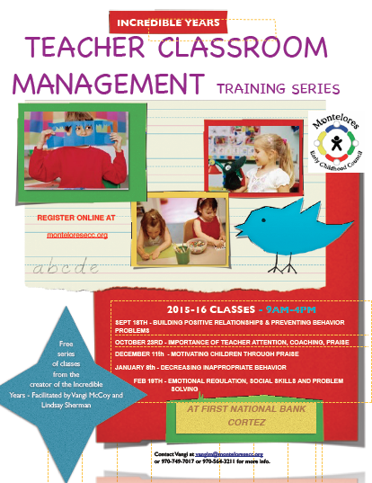 Teacher Classroom Management Training Series Flyer