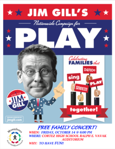 Free Family Concert with Jim Gill - Montelores Early Childhood Council