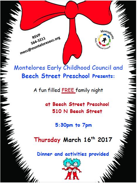 MECC Dr. Seuss Family Night 2017