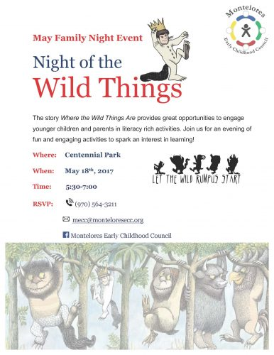May 2017 MECC Family Night - Night of the Wild Things