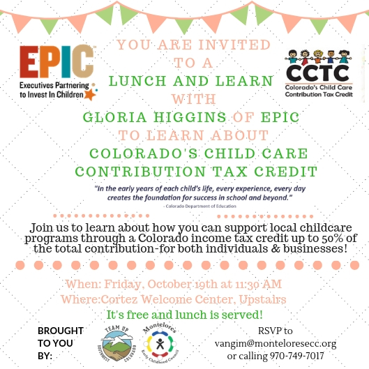 EPIC Lunch and Learn invitation