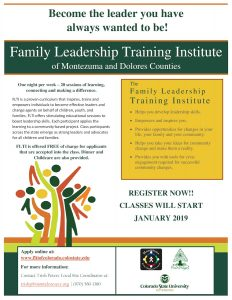 Family Leadership Training Institute 2019